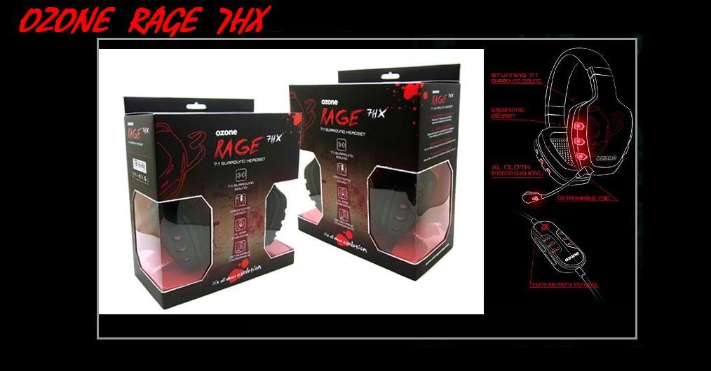 OZONE RAGE 7HX Black(7.1chバーチャルサラウンド搭載ヘッドセット)(OZRAGE71)