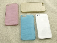 【iPhone5/5S/SE】マカロンカラーのおしゃれケース【ブラウン】