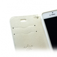 【iPhone5/5S/SE】スタンド機能つき!Cherry手帳型ケース